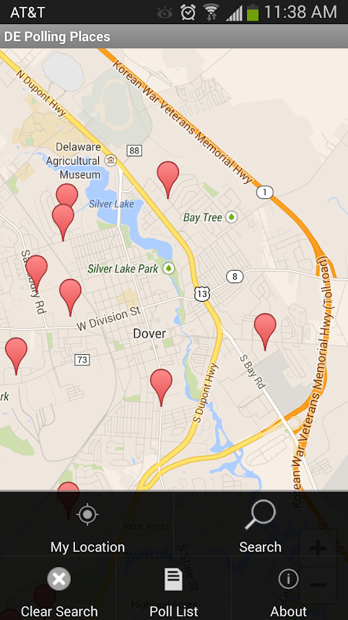Delaware Polling Places - screenshot