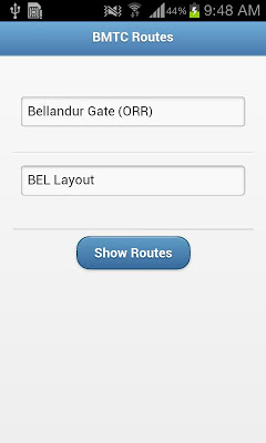 BMTC Routes - screenshot