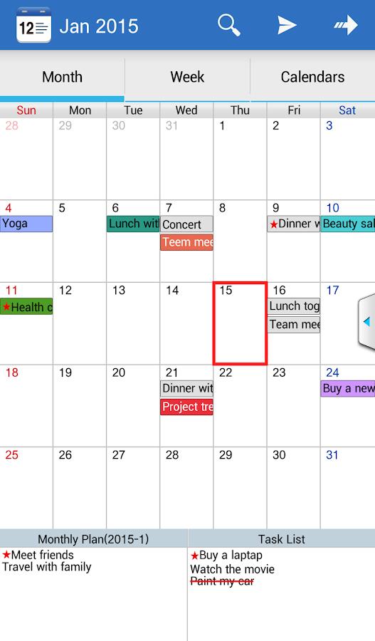 Caros Calendar& Diary& Planner - screenshot