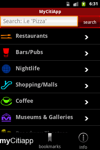 myCitiApp - screenshot