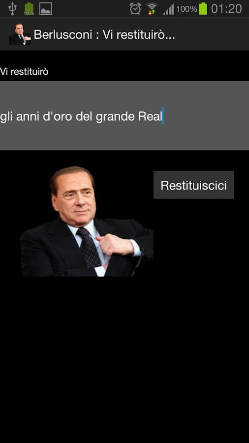Berlusconi: Vi restituirò FREE - screenshot