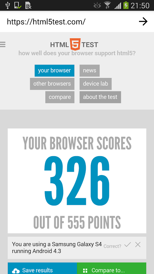 HTML5test WebView- screenshot