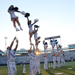 Kentucky Cheer by Andy Bond - Sports & Fitness Other Sports ( cheerleading, throw, cheer, people, kentucky )