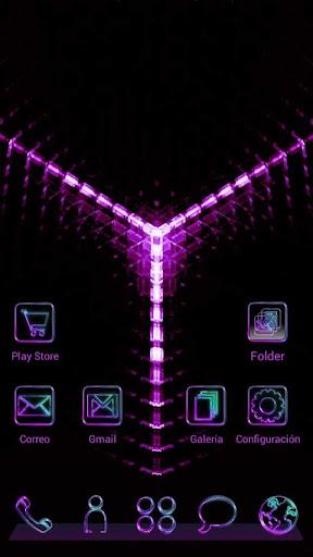 Next Launcher Theme GlowPurple