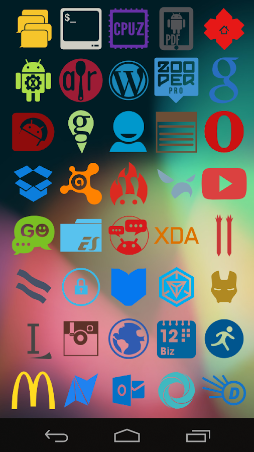 Stamped Icons - screenshot