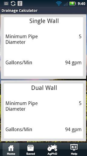 【免費書籍App】Drainage Tile Calculator-APP點子