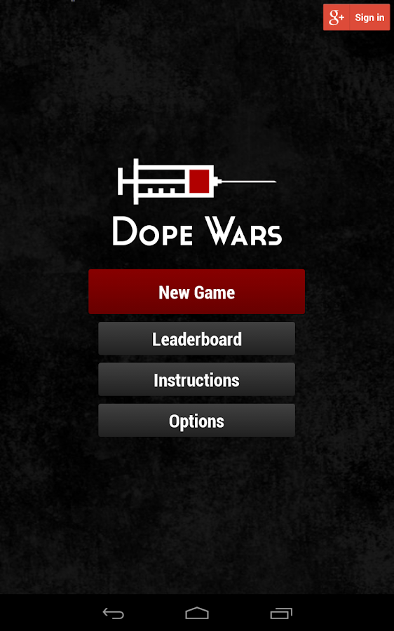 Dope Wars Classic - screenshot