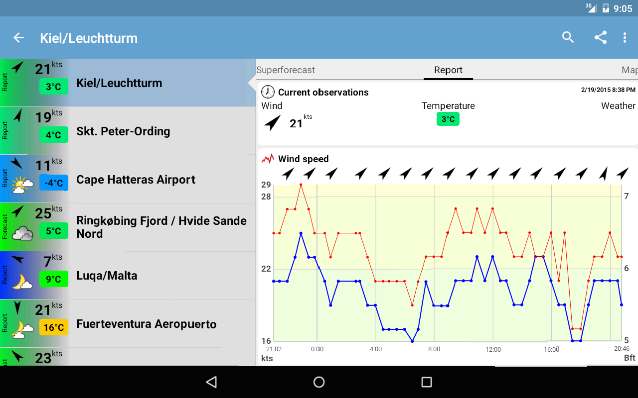 Windfinder Pro - screenshot