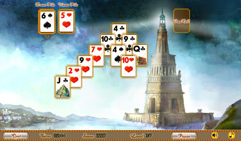 Ancient Wonders Solitaire Free- screenshot