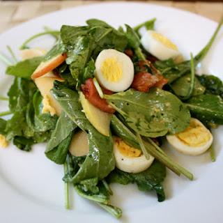 Apple, Arugula, and Pancetta Salad with Quail Eggs