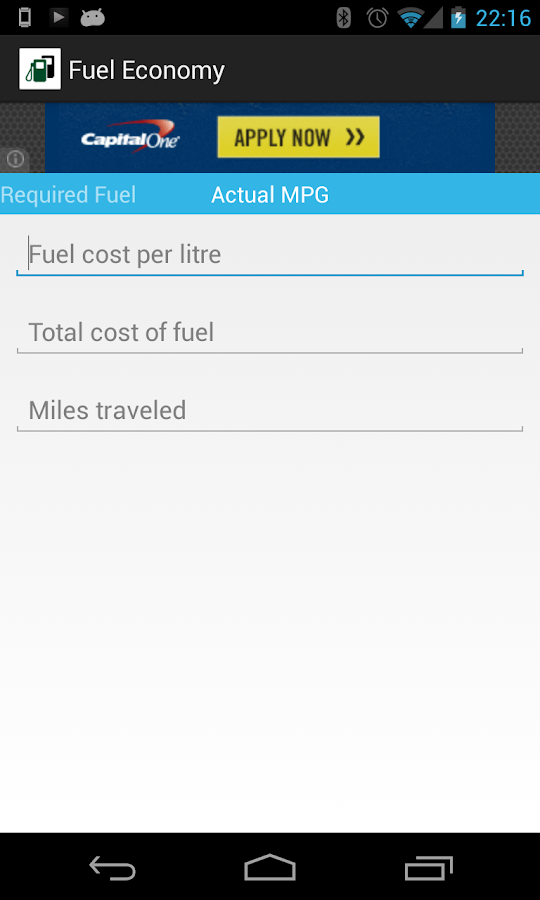 Fuel Economy- screenshot
