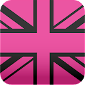 pink black UnionJack wallpaper icon