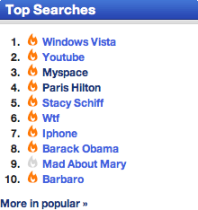 Technorati top searches WTF