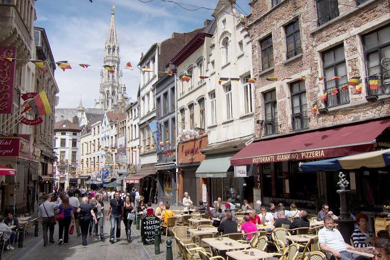 Cafes in Brussels, Belgium.