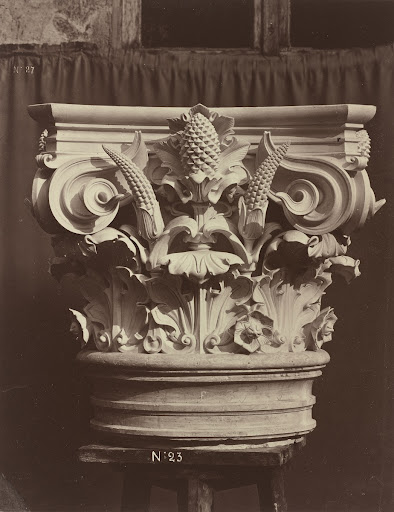 Ornamental Sculpture from the Paris Opera House (Column Fragment)