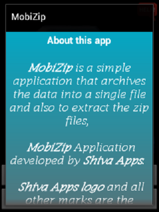 MobiZip- screenshot