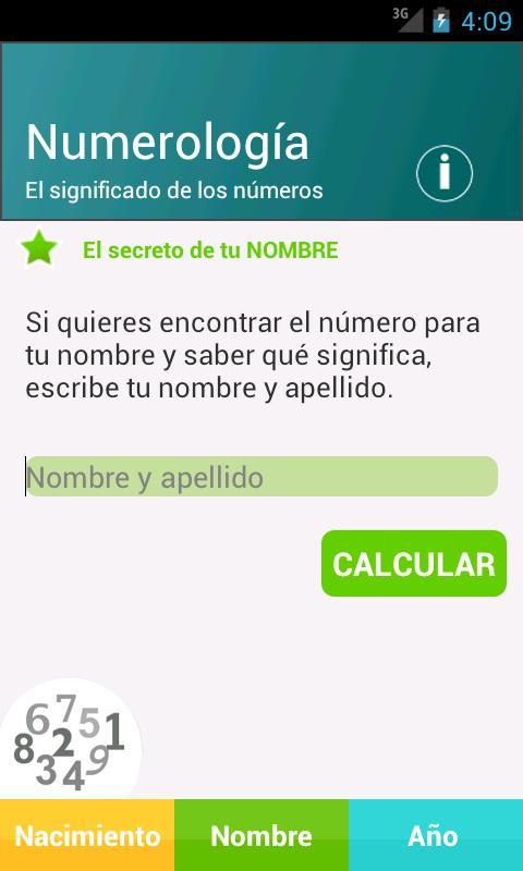 Numerología- screenshot
