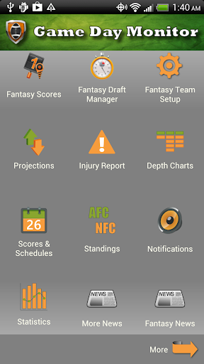 Fantasy Football Monitor 4 NFL