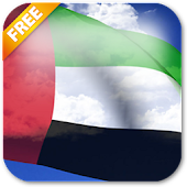 3D UAE Flag Live Wallpaper