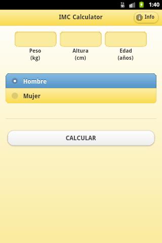 IMC Calculator- screenshot