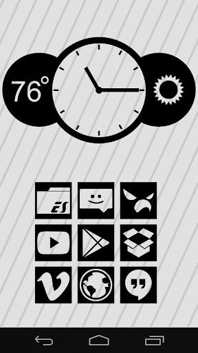Stenciled Clock Black UCCW