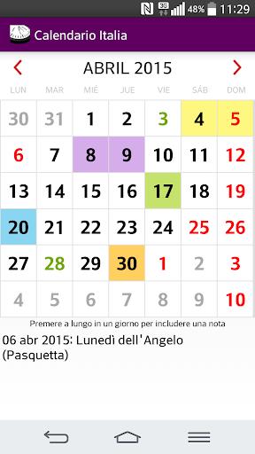 2015 Calendario Italia NoAds