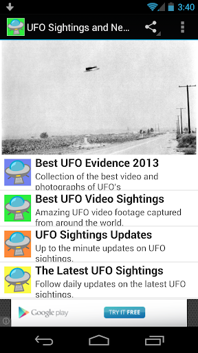 UFO Sightings and News