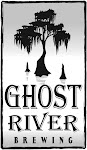 Logo of Ghost River Riverbank Red