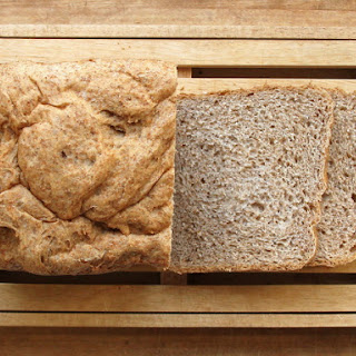 Bread Machine Whole-Wheat and Peanut Butter Bread.