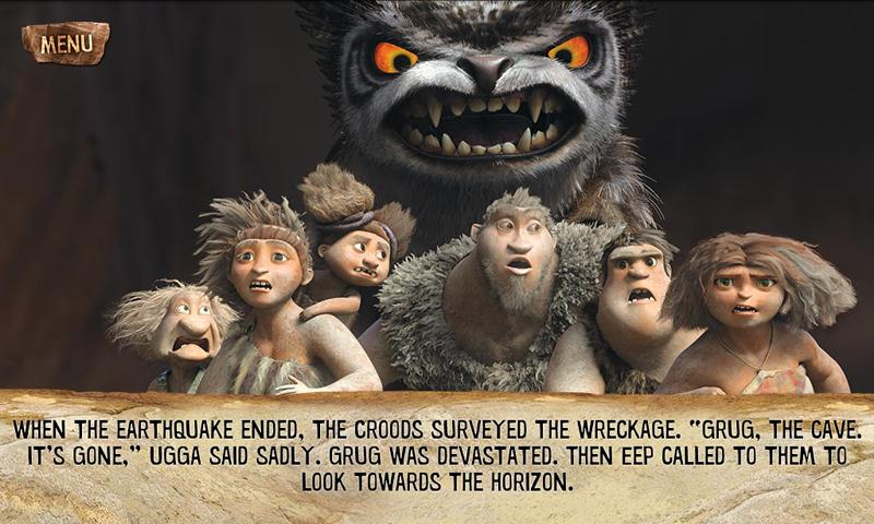 The Croods Movie Storybook- screenshot