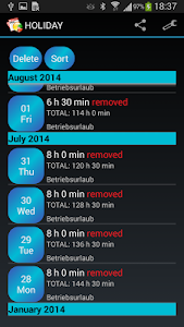 Time Manager Pro screenshot 4