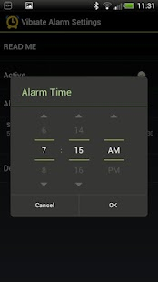 Vibrate Alarm for SmartWatch - screenshot thumbnail