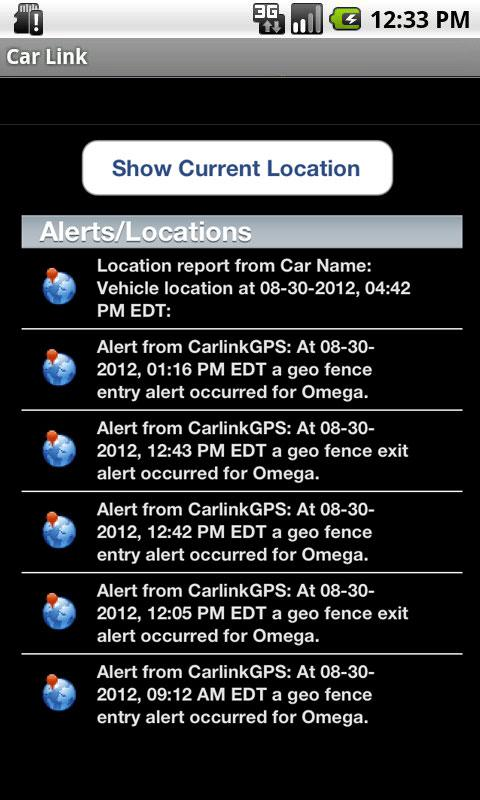 CarLink Car Interface- screenshot