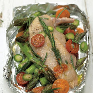 Roasted Chicken Breast with Cherry Tomatoes & Asparagus Recipe