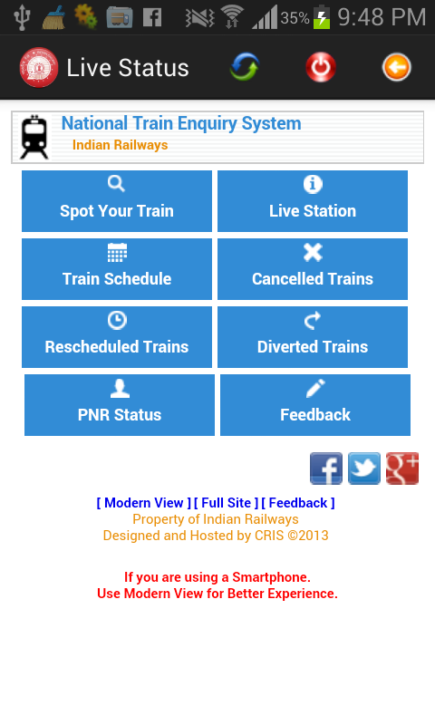 Live Train Status - screenshot