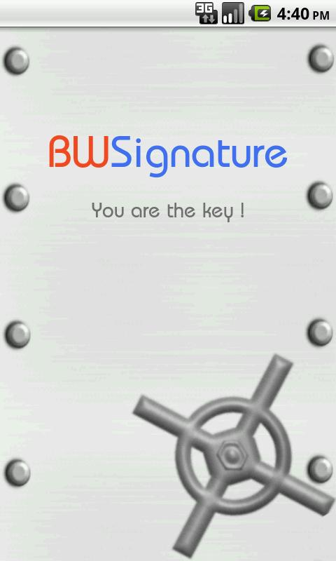 BioWallet Signature - screenshot