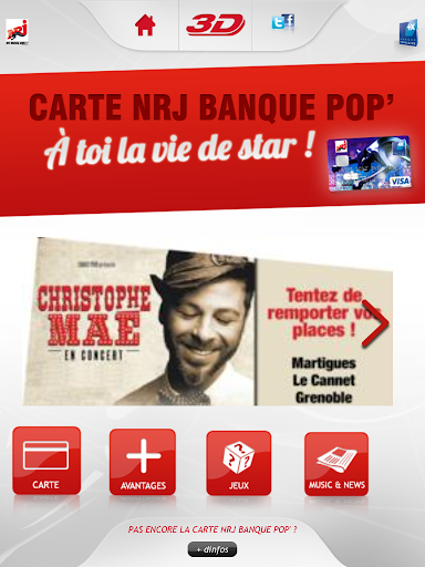 Carte NRJ Banque Pop'