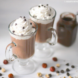 Healthy Nutella Hot Chocolate (sugar free, low carb, dairy free, vegan)