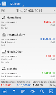 T2Expense - Money Manager- screenshot thumbnail