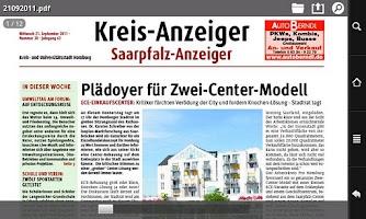 Screenshot of Kreisanzeiger