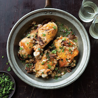 Braised Chicken with Shallots and Mushrooms
