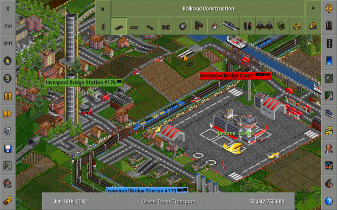 OpenTTD- screenshot