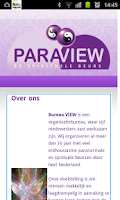 Screenshot of Paraview Beurs Agenda