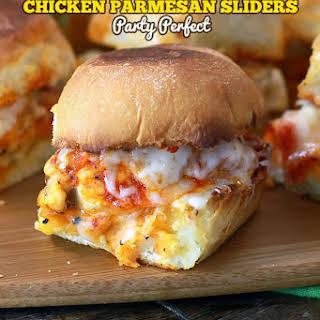 Chicken Parmesan Sliders.