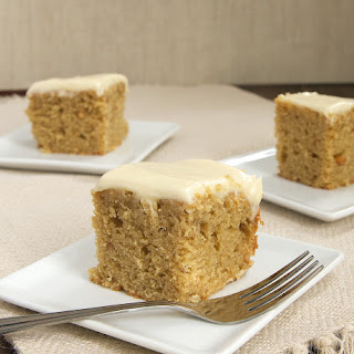 Peanut Butter Cake with Maple Cream Cheese Frosting.