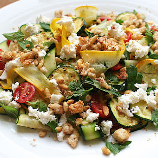 Raw and Charred Zucchini Salad