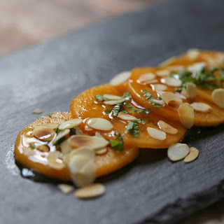 Persimmon Carpaccio with Mint and Orange Blossom
