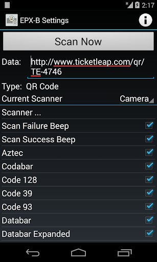 EPX-B Barcode Scanner Core