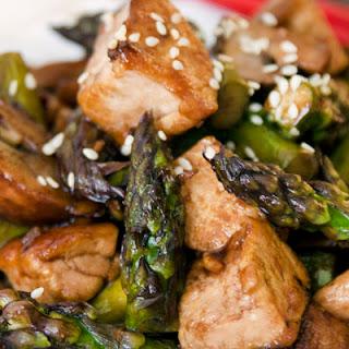 Asparagus, Mushroom and Tofu Stir-Fry.