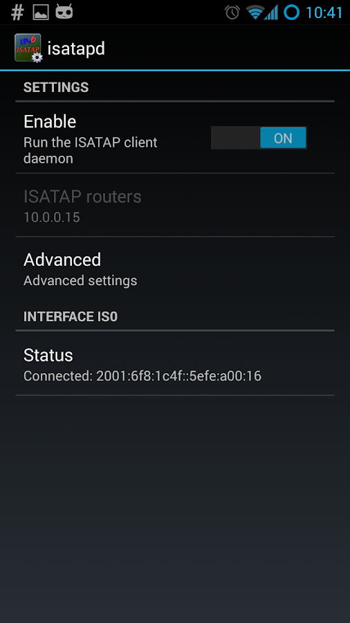 isatapd- screenshot